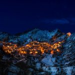 Castemezzano Village Italy Winter nightscape
