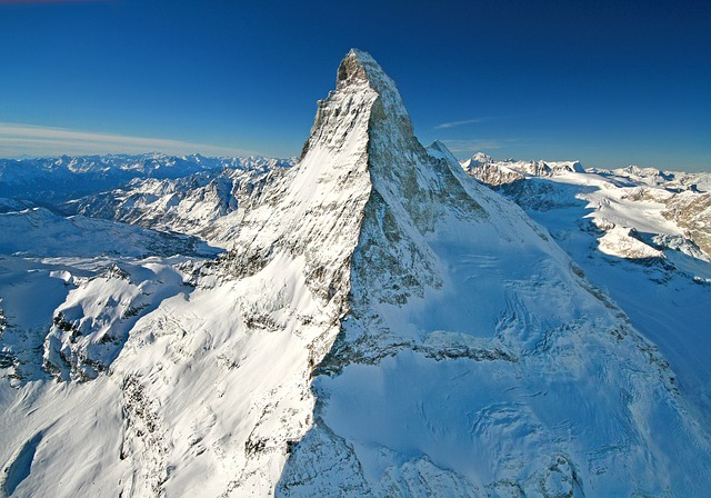 Matterhorn mountain winter