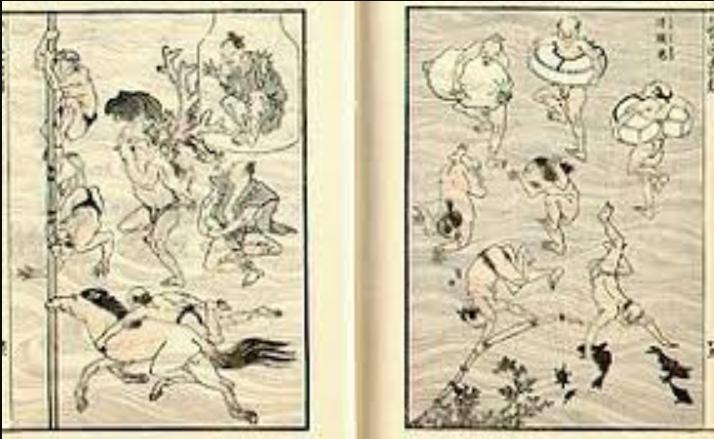 old traditional manga comic